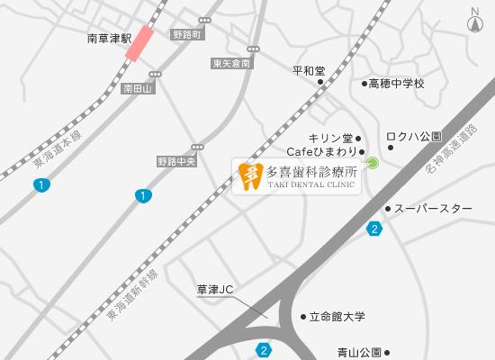 〒525-0046 滋賀県草津市追分町1121-1の地図